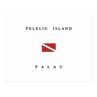 Peleliu Island Palau Scuba Dive Flag Postcard