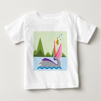 Pelican Eats Fish Baby T-Shirt