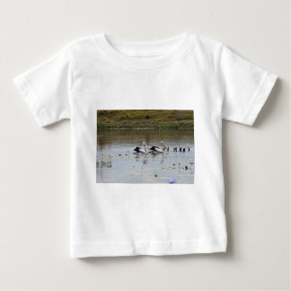 PELICAN IN DAM POND RURAL QUEENSLAND AUSTRALIA BABY T-Shirt