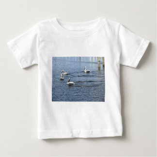 Pelicans Floating in the water in Florida Baby T-Shirt