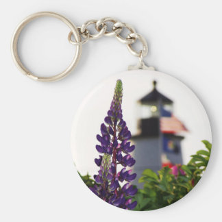 Pemaquid Lupin In the Distance Key Ring