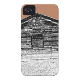 Pen and Ink Abandoned Stable iPhone 4 Cover