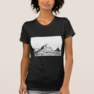Pen and Ink Pointed Butte T-Shirt