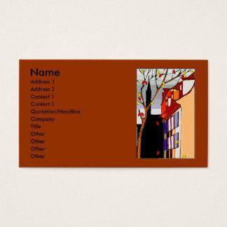 Pen on back Autumn scene on front Business Card