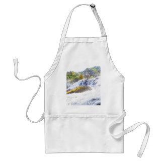 Pencil drawn waterfall standard apron