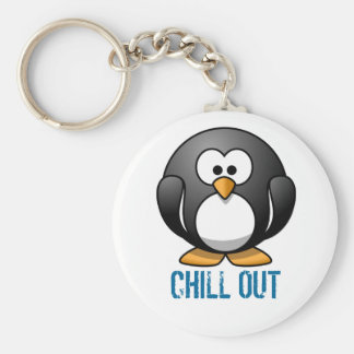 Penguin (customise the text) key ring