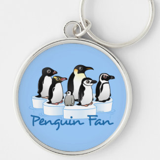 Penguin Fan Key Ring