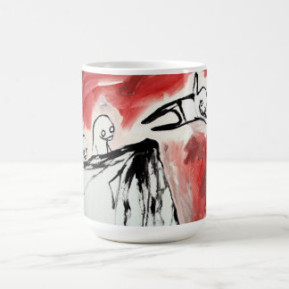 penguin icy cliff dive coffee mug