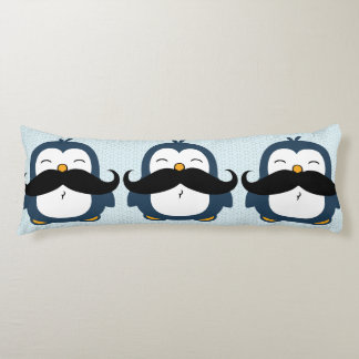 Penguin Mustache Trend Body Cushion