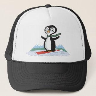 Penguin Snowboarder Trucker Hat