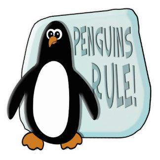 Penguins Rule Standing Photo Sculpture