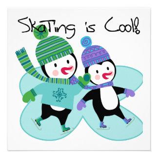 Penguins Skating is Cool Custom Invitations