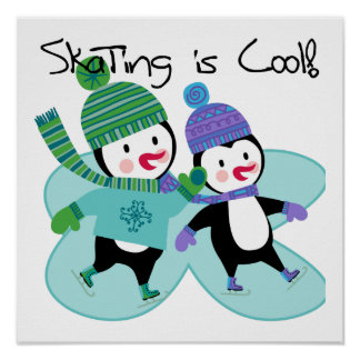 Penguins Skating is Cool Posters