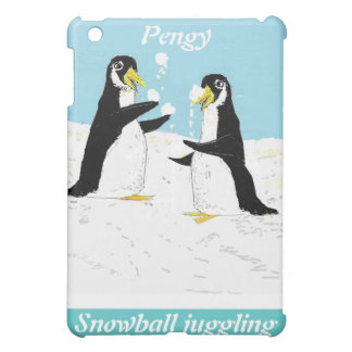 Pengy Penguin, snowball juggling Cover For The iPad Mini