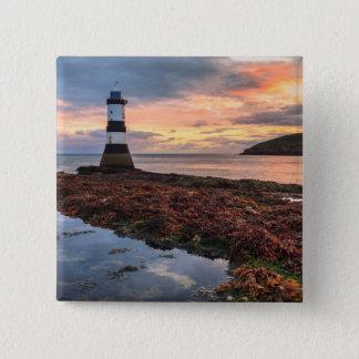 Penmon Lighthouse Sunrise | Puffin Island 15 Cm Square Badge