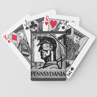 Pennsylvania Coal Poster WPA 1938 Bicycle Playing Cards
