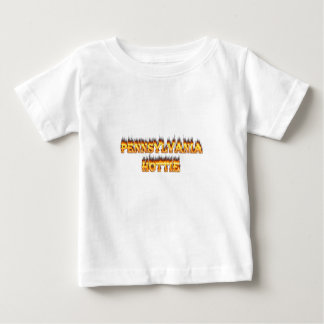 pennsylvania hottie fire and flames baby T-Shirt