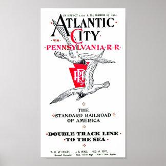 Pennsylvania Railroad Atlantic City Service 1904 Poster