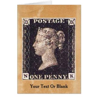 Penny Black Postage Stamp Card