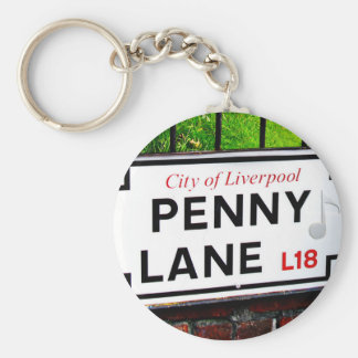Penny Lane sign from the city of Liverpool England Key Ring
