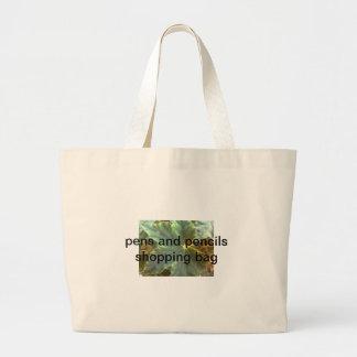 pens and pencils shopping bag