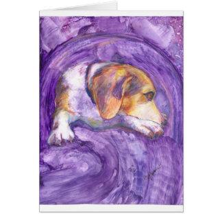 Pensive Pup Card
