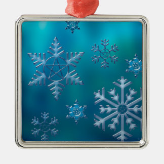 Pentacle Snowflake ornament square