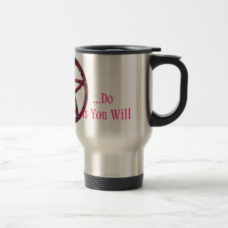 Pentacles: Pink Stainless Steel Travel Mug