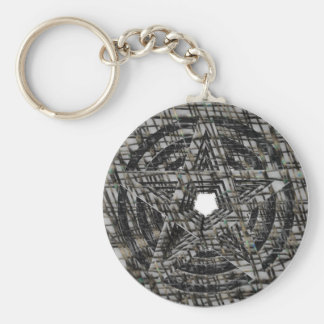 Pentacles: Silver Basic Round Button Key Ring