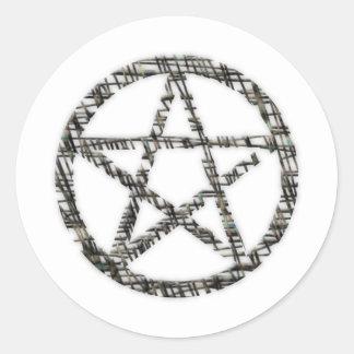 Pentacles Round Sticker