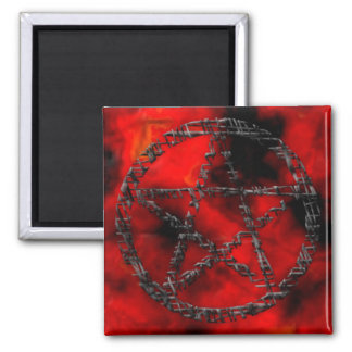 Pentacles: Tinted Threads Square Magnet