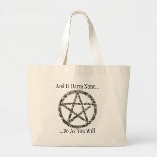 Pentacles Jumbo Tote Bag