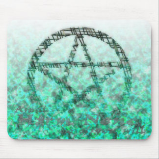 Pentacles with Text Image Mouse Pad