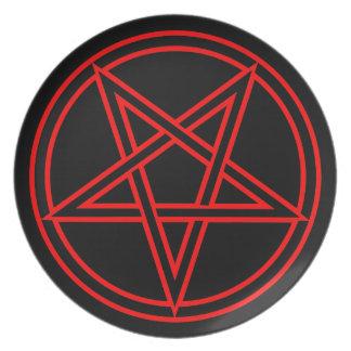 Pentagram Dinner Plate