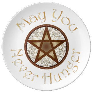 """Pentagram & Gold """"May You Never Hunger"""" Plate 2"""