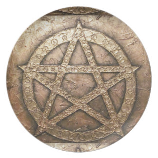 Pentagram of protections party plate