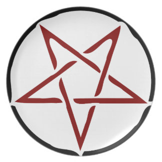 Pentagram Party Plate