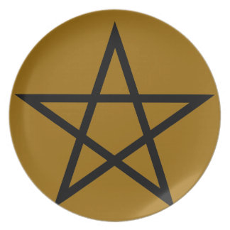 pentagram party plate