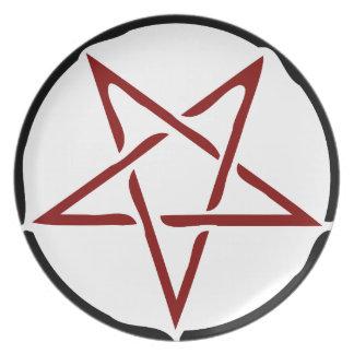 Pentagram Party Plates