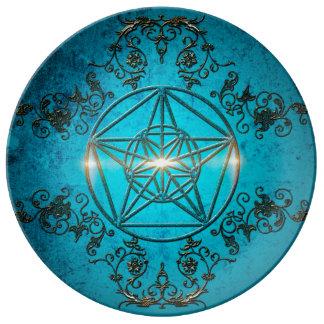 Pentagram, Porcelain Plates