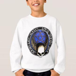 Pentagram skirt and roll skull sweatshirt