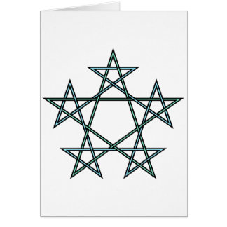 Pentagrams-interlaced-pattern Card