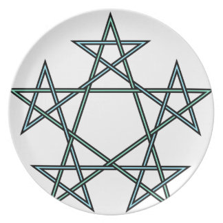 Pentagrams-interlaced-pattern Party Plate