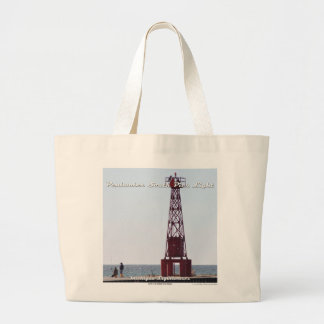 Pentwater South Pier Light - Large Tote Bag