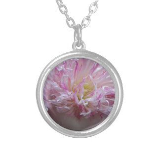Peonies 8 - 2015 silver plated necklace
