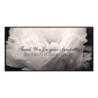 Peony 3 - Sympathy Thank You Photo Cards
