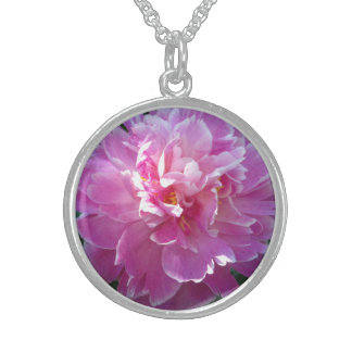 Peony Bloom Sterling Silver Pendant