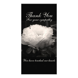 Peony Floral Photo Sympathy Thank You Cards Picture Card