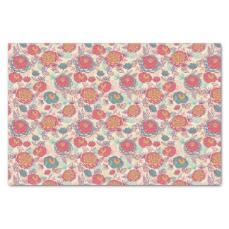 Peony flowers and leaves pattern tissue paper