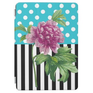 Peony Polka Dot Blue iPad Air Cover